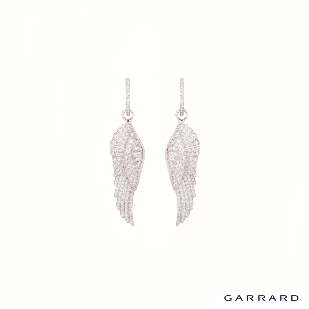 Garrard White Gold Diamond Wing Collection Earrings